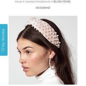 Lele Sadoughi Blush Pearl Headband